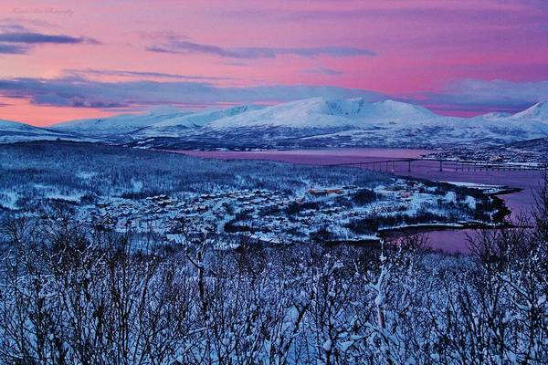 Norway Art Print featuring the photograph Norwegian Arctic Twilight by David Broome