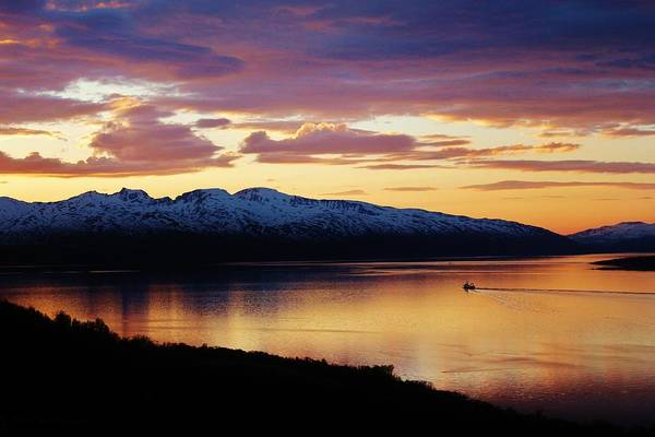 Norway Art Print featuring the photograph Norwegian Fjordland Sunset by David Broome