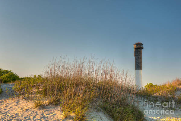 Sullivan's Island Lighthouse Art Print featuring the photograph Not A Cloud In The Sky by Dale Powell