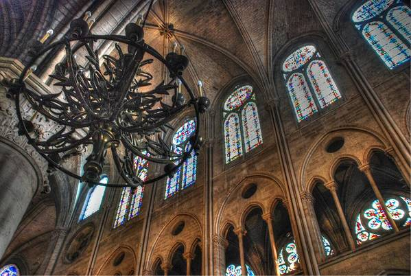 Notre Dame Art Print featuring the photograph Notre Dame Interior by Jennifer Ancker