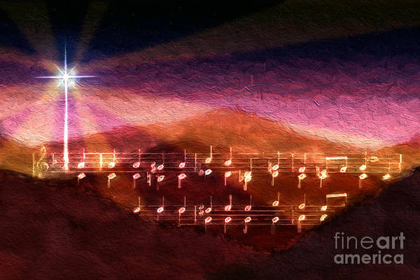 Music Art Print featuring the digital art O Little Town by Lon Chaffin