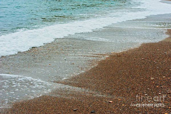 Ocean Art Print featuring the photograph Ocean Wave Color Palette by Artist and Photographer Laura Wrede