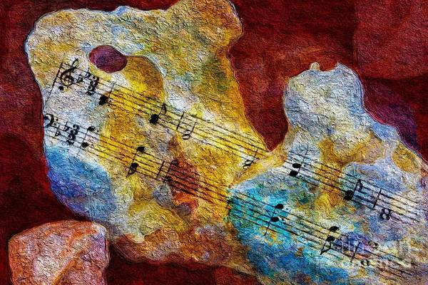 Music Art Print featuring the digital art Cleft For Me by Lon Chaffin