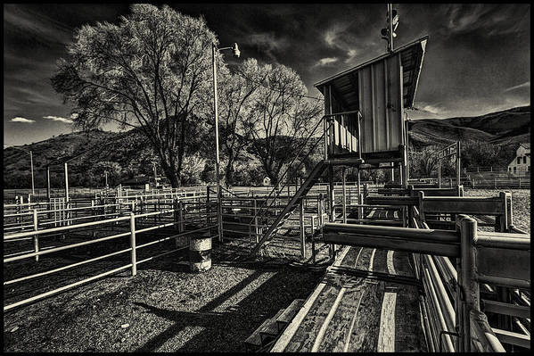 Black And White Art Print featuring the photograph Off Season by Christian Peay