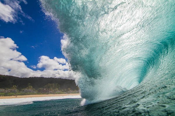 Wave Art Print featuring the photograph Off The Wall by Doug Falter