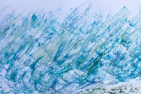 Art Print featuring the photograph Oil Pastel Marks by Tom Gowanlock