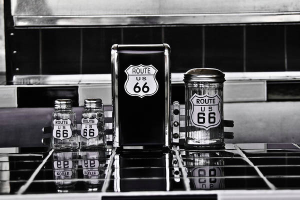 Route 66 Art Print featuring the photograph Old Diner by Steve Wilkes