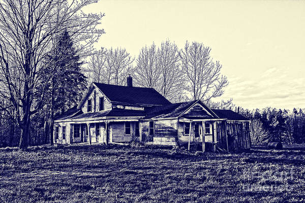 Blueprint Art Print featuring the photograph Old Farm House by Jim Lepard