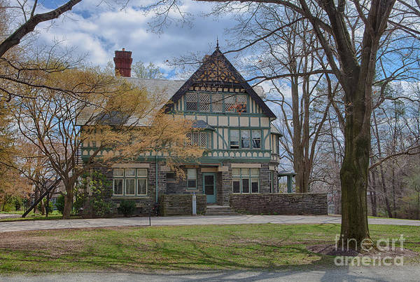 Haverford College Art Print featuring the photograph Old House On Haverford Campus by Kay Pickens