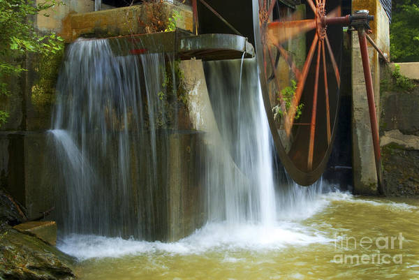 Water Art Print featuring the photograph Old Mill Water Wheel by Paul W Faust - Impressions of Light