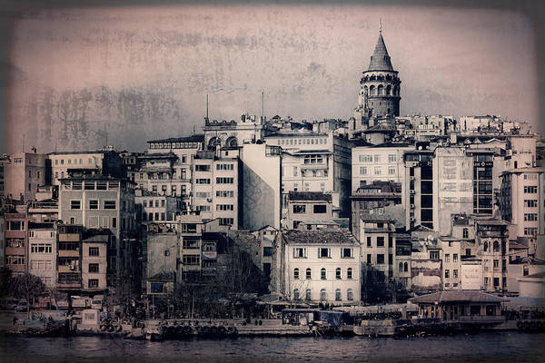 Galata Tower Art Print featuring the photograph Old New District by Joan Carroll