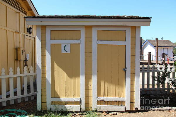 Sacramento Art Print featuring the photograph Old Sacramento California Schoolhouse Outhouse 5d25549 by Wingsdomain Art and Photography