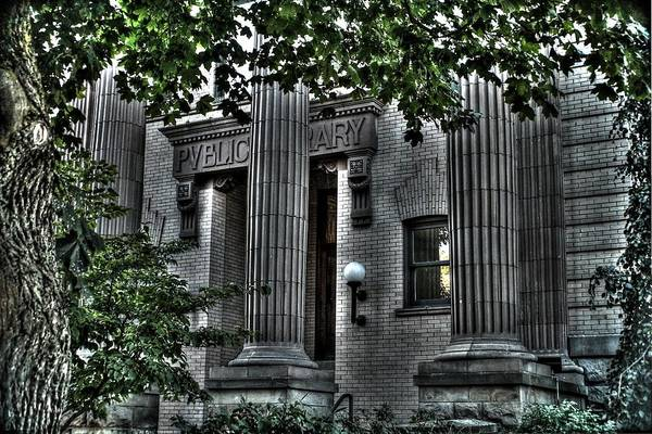 Art Print featuring the photograph Old Spokane Library W.1st by Dan Quam