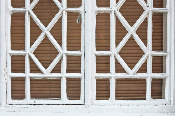 Aged Art Print featuring the photograph Old Window Frame by Tom Gowanlock