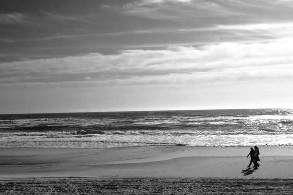 Beach Art Print featuring the photograph On The Beach by Jeff Singer