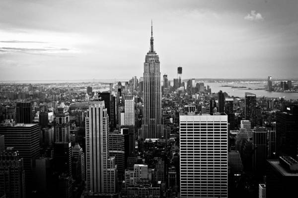 New York Art Print featuring the photograph On Top Of The World by Jane M