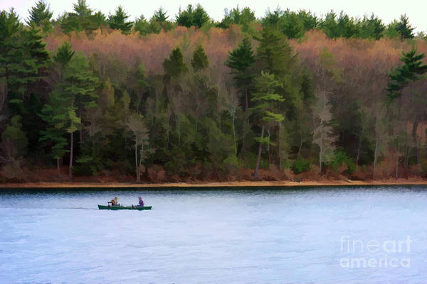 Walden Pond Art Print featuring the photograph On Walden Pond by Jayne Carney