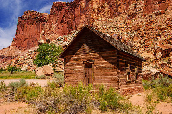 Historic Fruita Schoolhouse Art Print featuring the photograph One Room School by James Marvin Phelps