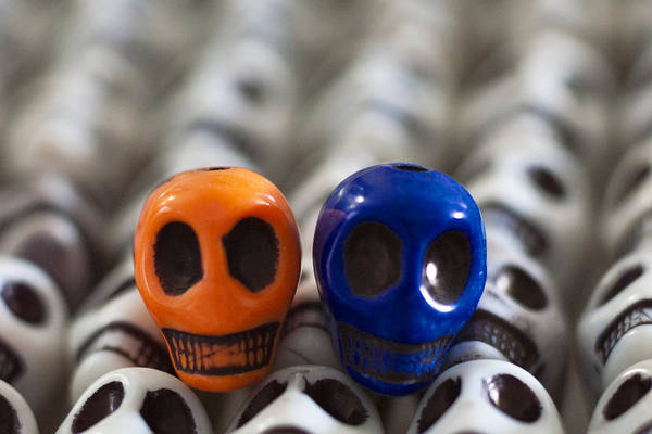 Smiles Art Print featuring the photograph Orange And Navy Blue by Mike Herdering