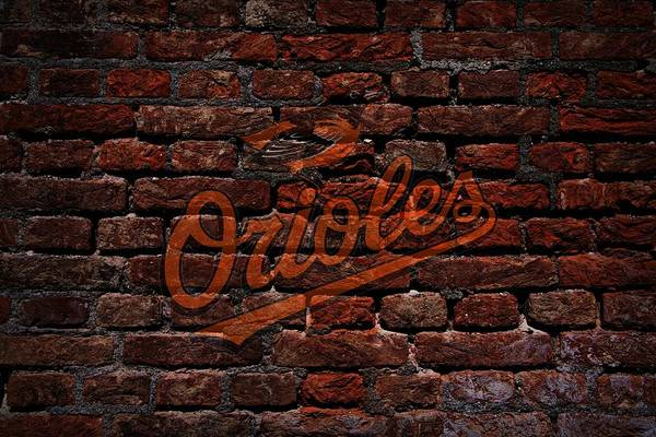 Baseball Art Print featuring the photograph Orioles Baseball Graffiti On Brick by Movie Poster Prints