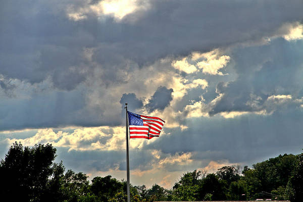 Flag Photograph Art Print featuring the photograph Our Country by Dan Sproul