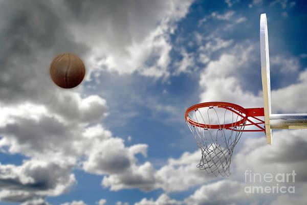 Abstract Art Print featuring the photograph Outdoor Basketball Shot by Lane Erickson