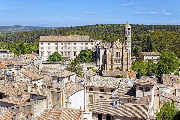 Overlooking Uzes Art Print featuring the photograph Overlooking Uzes by Jenny Hudson
