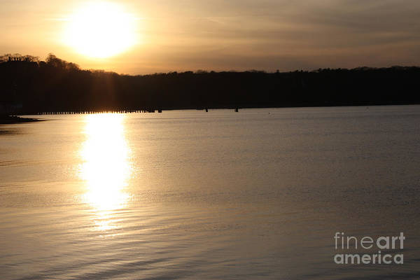 Oyster Bay Sunset Print featuring the photograph Oyster Bay Sunset by John Telfer