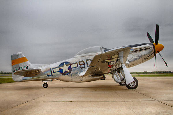 Airplanes Art Print featuring the photograph P-51 Mustang Fighter by Mark Meacham