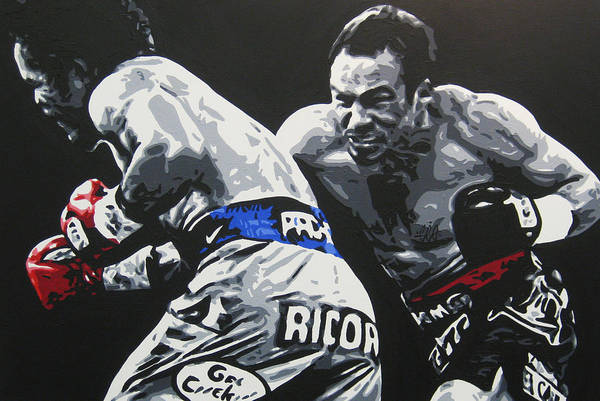 Pacquiao Art Print featuring the painting Pacman Marquez 2 by Geo Thomson