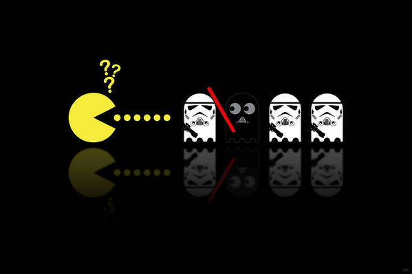 Pacman Art Print featuring the digital art Pacman Star Wars - 1 by NicoWriter