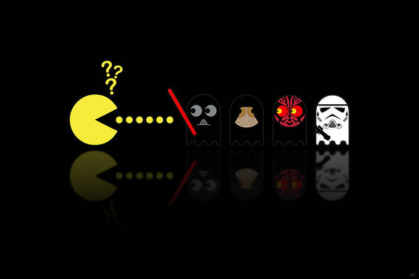 Pacman Art Print featuring the digital art Pacman Star Wars - 2 by NicoWriter