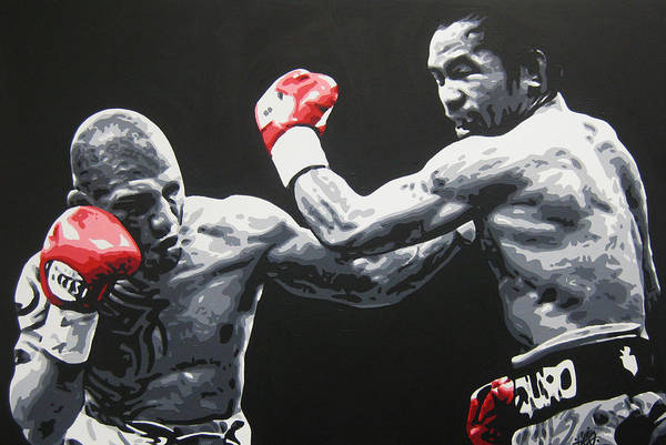 Boxing Art Print featuring the painting Pacman V Cotto by Geo Thomson