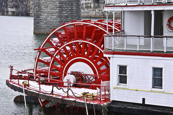 Delta Queen Art Print featuring the photograph Paddle Wheel by Tom and Pat Cory