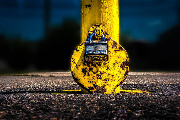 Landscape Art Print featuring the photograph Padlock Number Two by Bob Orsillo