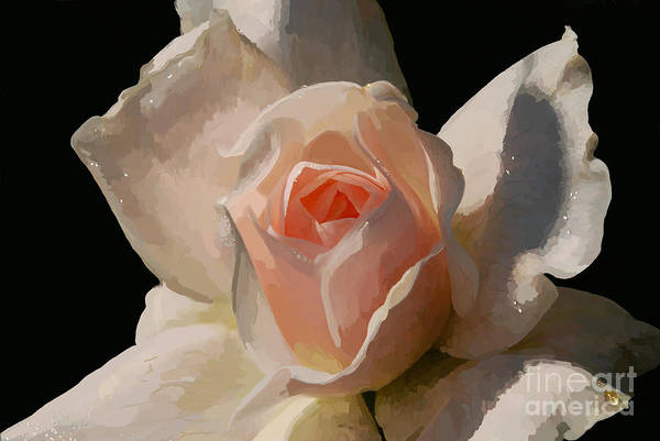 Rose Art Print featuring the digital art Painted Rose by Lois Bryan