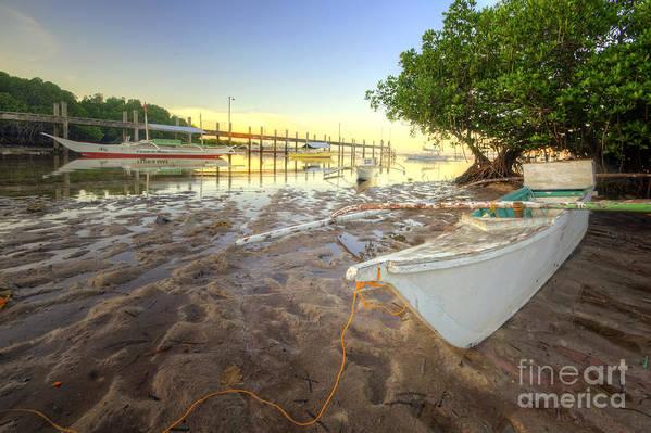 Yhun Suarez Art Print featuring the photograph Panglao Port Sunset 4.0 by Yhun Suarez