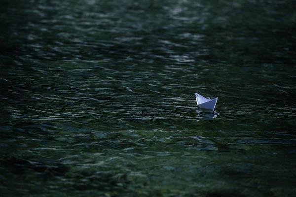 Paper Boat Print featuring the photograph Paper Boat by Joana Kruse