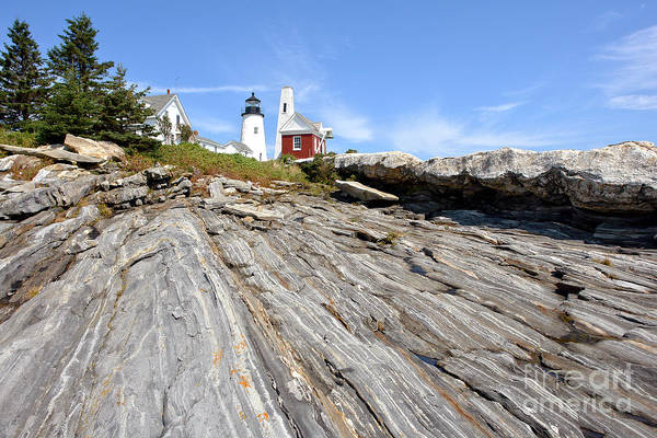 Maine Print featuring the photograph Pemaquid Point Lighthouse In Maine by Olivier Le Queinec