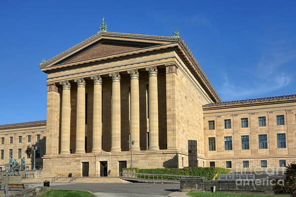Phila Art Print featuring the photograph Philadelphia Museum Of Art Rear Facade by Olivier Le Queinec