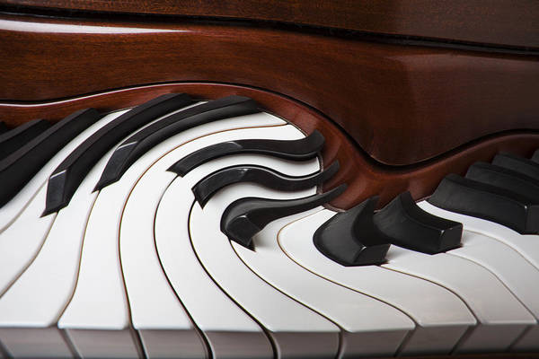 Piano Art Print featuring the photograph Piano Surrlistic by Garry Gay