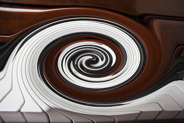 Piano Art Print featuring the photograph Piano Swirl by Garry Gay