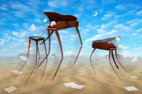 Surrealism Art Print featuring the photograph Piano Valley by Mike McGlothlen