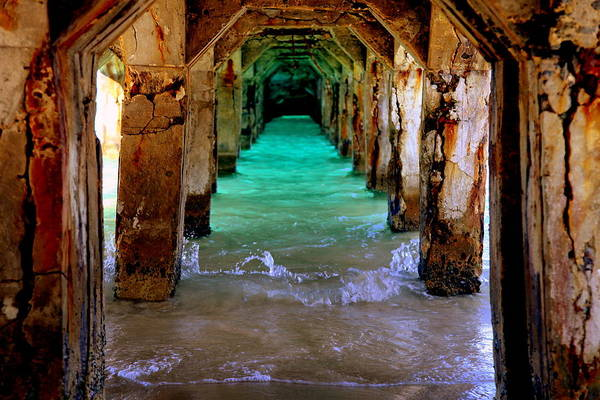 Waterscapes Art Print featuring the photograph Pillars Of Time by Karen Wiles