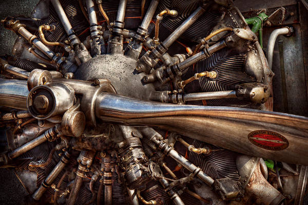 Plane Art Print featuring the photograph Pilot - Plane - Engines At The Ready by Mike Savad