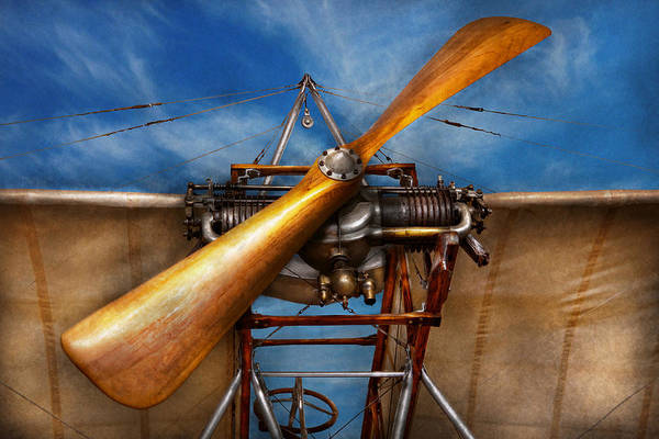 Plane Art Print featuring the photograph Pilot - Prop - They Don't Build Them Like This Anymore by Mike Savad