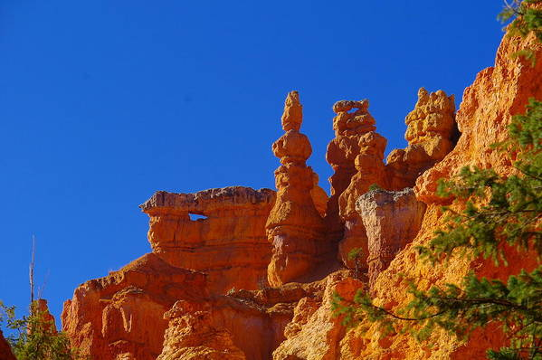 Pinnacles Art Print featuring the photograph Pinnacles Of Red Rock by Jeff Swan