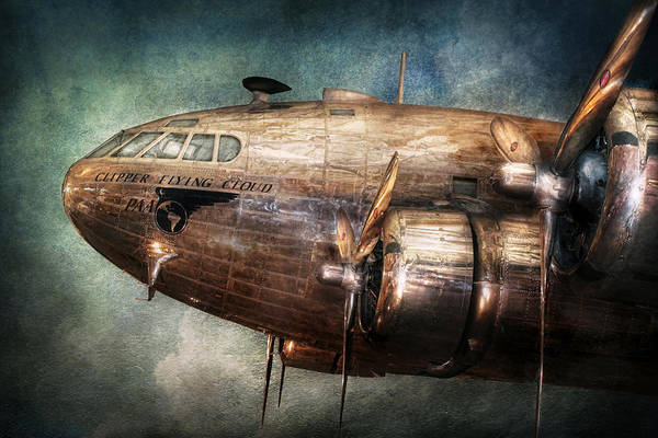 Pilot Art Print featuring the photograph Plane - Pilot - The Flying Cloud by Mike Savad