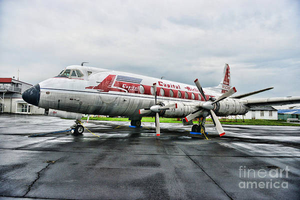 Paul Ward Art Print featuring the photograph Plane Props On Capital Airlines by Paul Ward