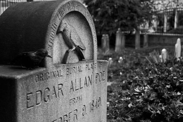Edgar Allan Poe Art Print featuring the photograph Poe's Original Grave by Jennifer Ancker